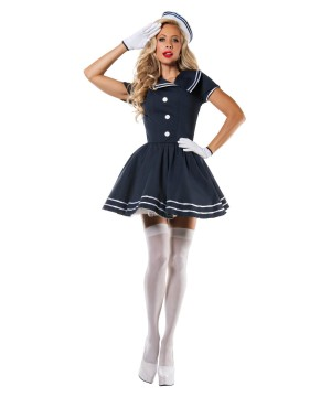 Pin up Captain Womens Costume deluxe