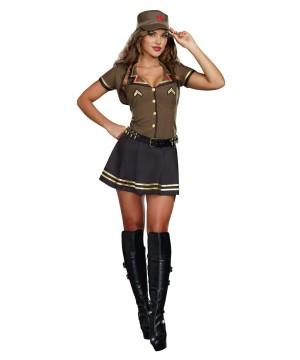 Sassy Army Brat Womens Costume