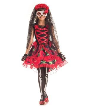 Sassy Day of the Dead Senorita Girls Costume