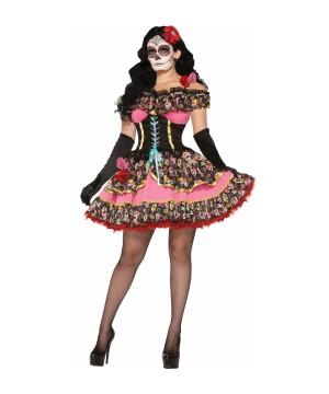 Senorita De Los Muertos Womens Costume
