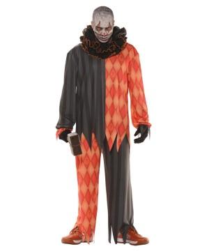 Sinister Clown Teen Mens Costume