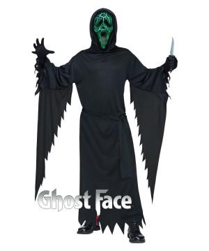 Smoldering Scream Ghost Face Mens Costume