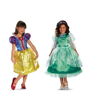 Snow White and Ariel Toddler Costumes