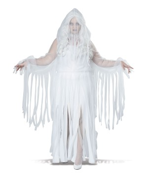 Spooky Ghostly Spirit Womens plus size Costume