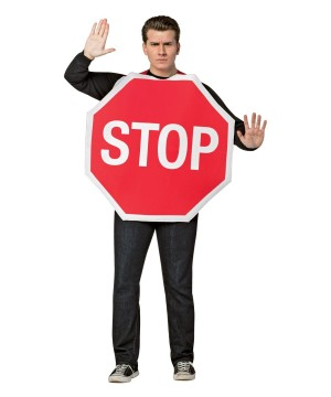 Stop Sign Mens Costume