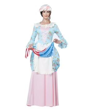Stylish Colonial Times Woman Costume