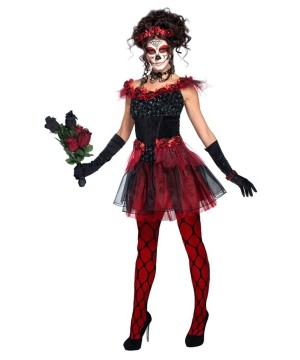 Sugar Skull Rose Maiden Womens Costume