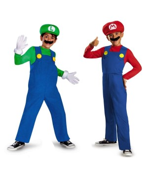Super Mario and Lugi Boys Costume Set
