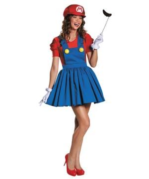 Super Mario Bros Sassy Mario Womens Costume