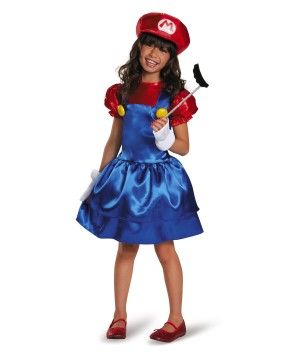 Super Skirt Mario Girls Costume