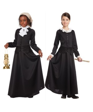 Susan B Anthony and Harriet Tubman Girls Costume Combo