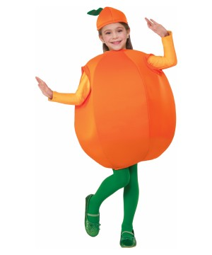 Sweet Orange Girls Fruit Costume