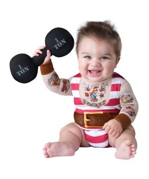 Tatted Strongman Baby Boy Costume