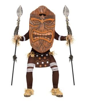 Tiki Warrior Mens Costume