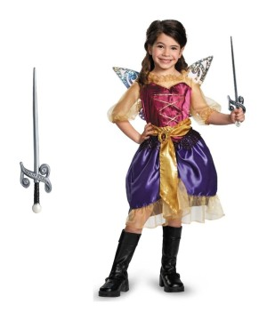 Tinkerbell and the Pirate Fairy Girls Zarina Costume and Sword Set