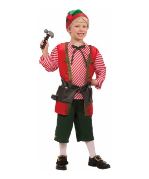 Toy Maker Elf Boy Costume
