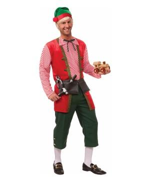 Toy Maker Elf Men Costume