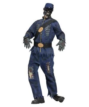 Civil War Union Zombie Mens Costume
