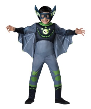 Wild Kratts Boys Green Bat Muscle Costume