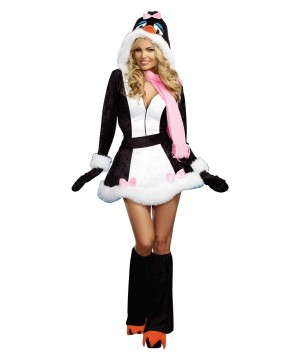 Winter Chillin' Penguin Sweetie Womens Costume