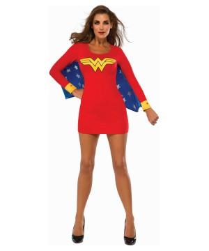 Wonder Woman Cape Dress Womens Costume