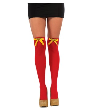 Wonder Woman Thigh High Womens Stockings