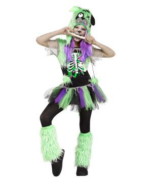 Zombie Pupster Girls Costume