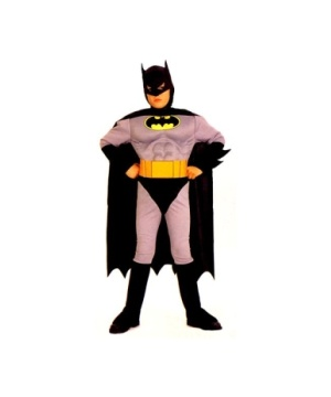 Batman With Chest Costume - Kids Costume