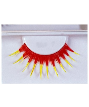 Red With Yellow Eyelashes