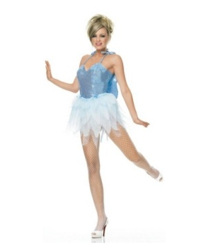 Fairy Blue Glitter Womens Costume