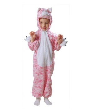 Pink Plush Kitty Toddler Costume