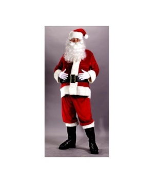 Santa Suit Rich Velvet Men Costume