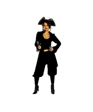 She Captain Black Costume