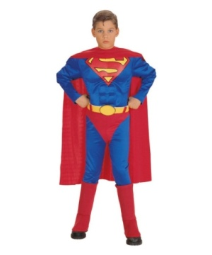 Superman Muscle Boys Costume