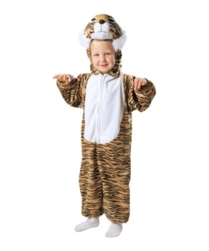 Striped Plush Tiger Costume - Toddler Costume