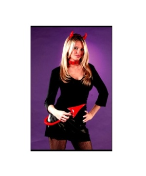 Devil Set Costume Black Leather