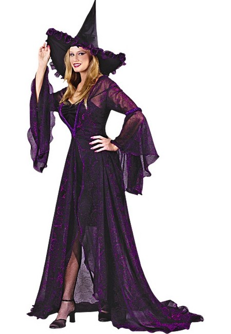 Adult Shimmering Witch Halloween Costume - Women Costume