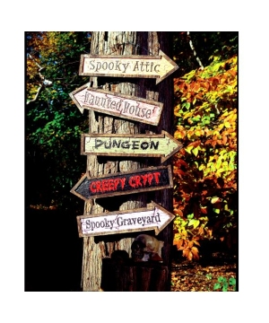 Haunted Signs Assorted - Halloween Decoration