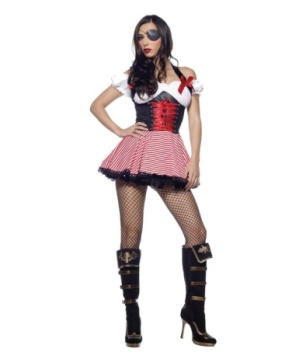Pirate Wench Halter Dress Women Costume