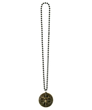 pirate coin medallion necklace