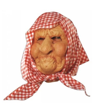 Old Lady With Scarf Mask