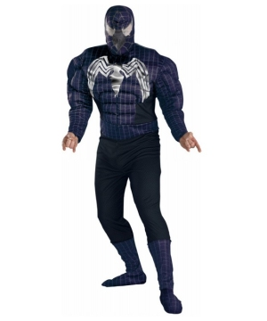 Spiderman 3 Venom Muscle Teen/ Men Costume