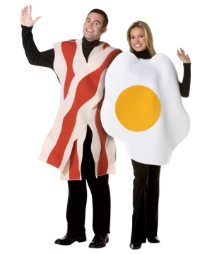 Bacon and Eggs Costume - Adult Couples Costume