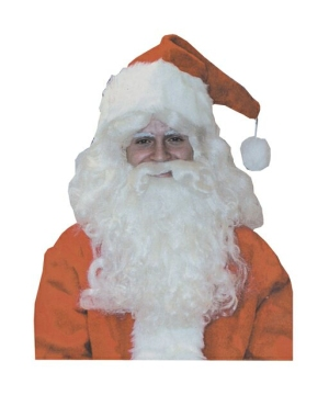 Deluxe Santa Wig & Beard Set-christmas Accessories
