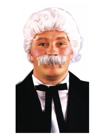 Mark Twain Wig And Mustache Set