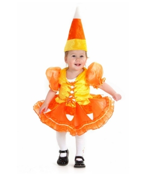 Candy Corn Princess Kids Costume