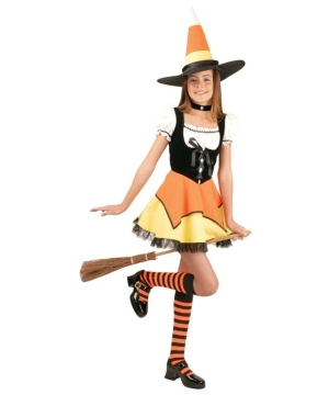 Candy Corn Witch Girls Costume