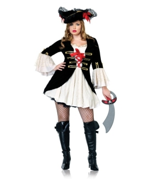 Captain Swashbuckler Costume - Pirate Costume Adult plus size