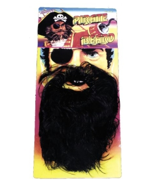 Black Pirate Beard - Adult Costume Accessory
