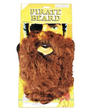 Brown Pirate Beard - Adult Costume Accessory